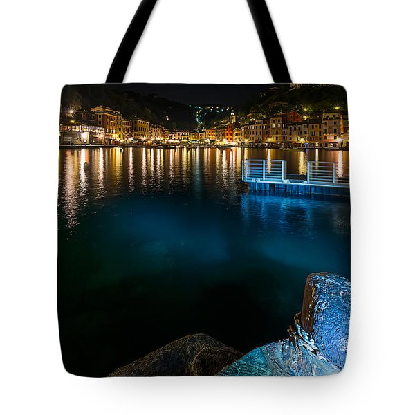 Tote Bag featuring the photograph One Night In Portofino - Una Notte A Portofino by Enrico Pelos