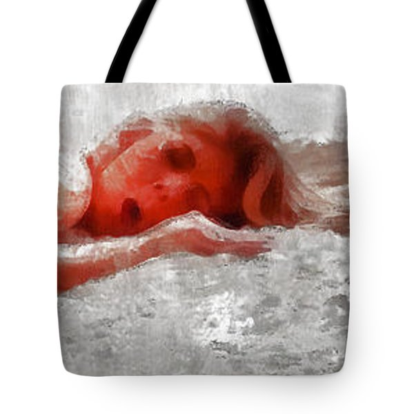 Tote Bag featuring the digital art One Of Sixteen Vestal Virgins by Viktor Savchenko
