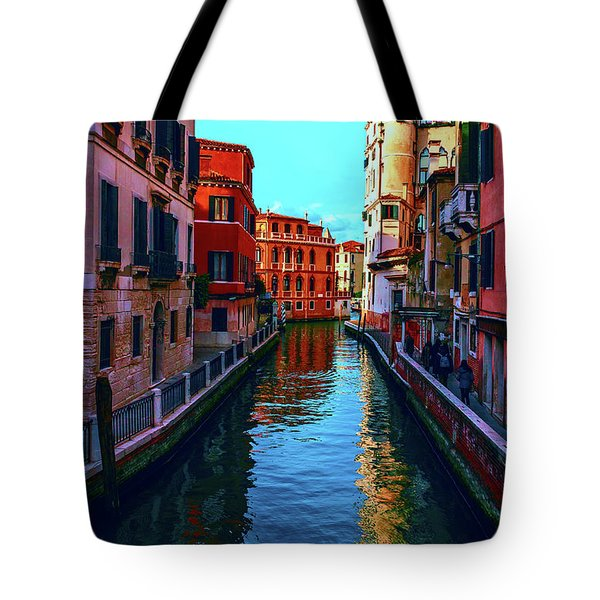 one of the many beautiful old Venetian canals on a Sunny summer day Tote Bag