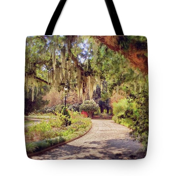 One Of The Many Moss Draped Paths To Tote Bag