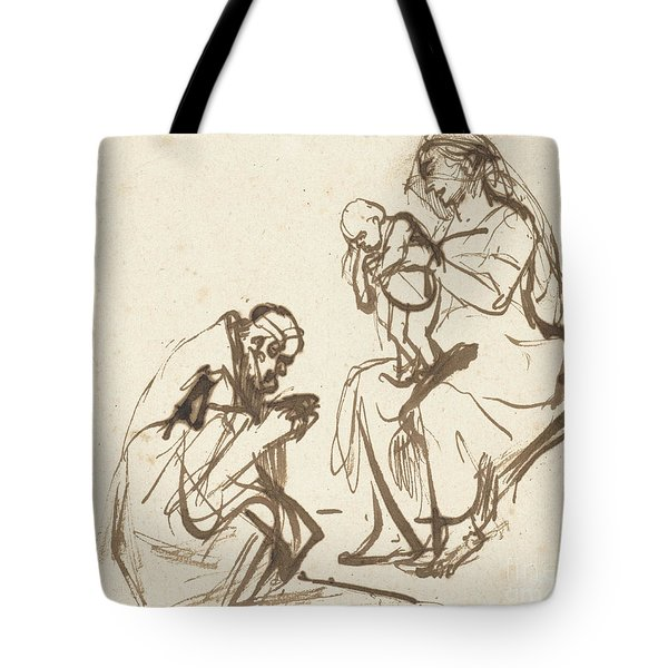 One Of The Three Kings Adoring The Virgin And Child Tote Bag
