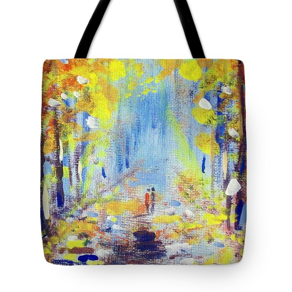 Tote Bag featuring the painting One On One by Raymond Doward