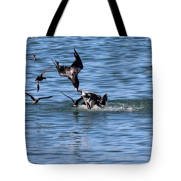 One Pelican Diving  Tote Bag