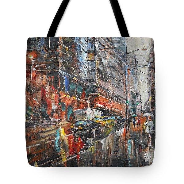 One Rainy Evening Tote Bag