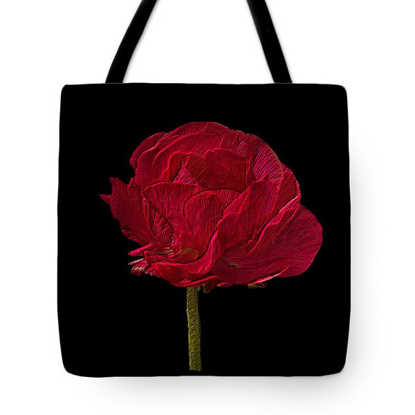 One Red Flower Tee Shirt Tote Bag