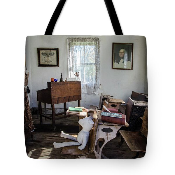 Tote Bag featuring the photograph One Room Schoolhouse by Ann Bridges