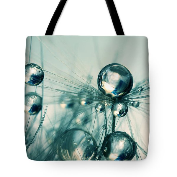 One Seed With Blue Drops Tote Bag