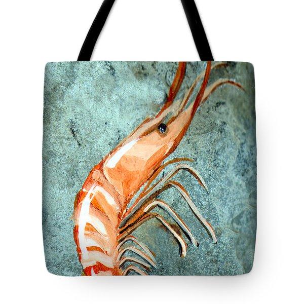 One Shrimp Tote Bag by Elaine Hodges