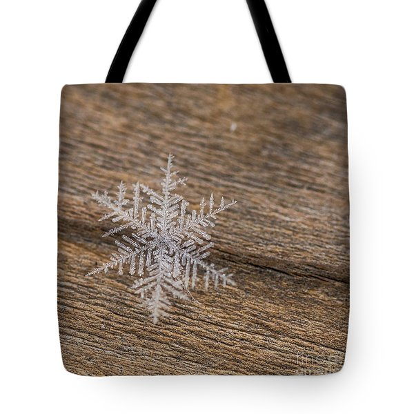 Tote Bag featuring the photograph One Snowflake by Ana V Ramirez