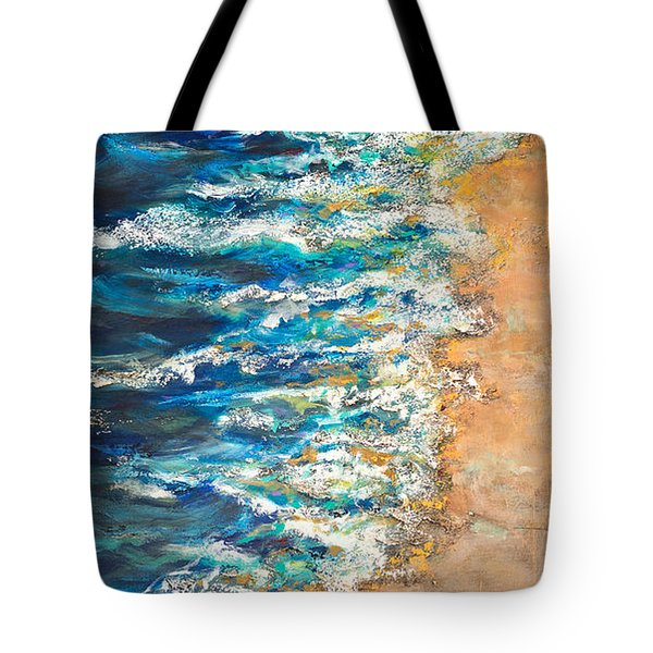 Tote Bag featuring the painting One Star by Linda Olsen