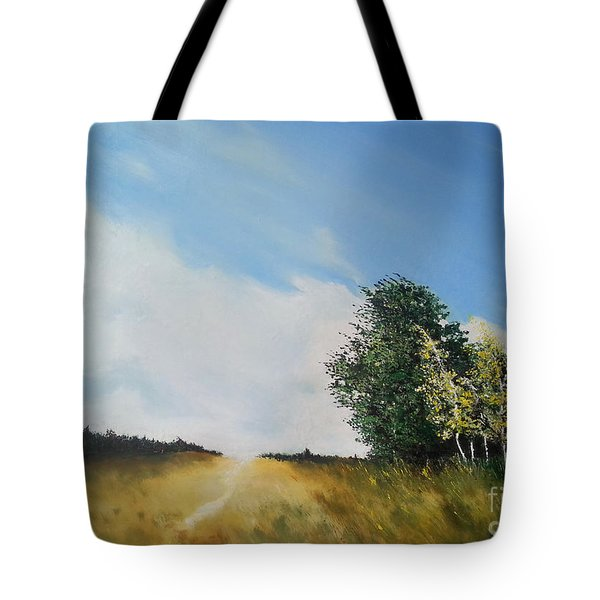 One Summers Day Oil Painting Tote Bag