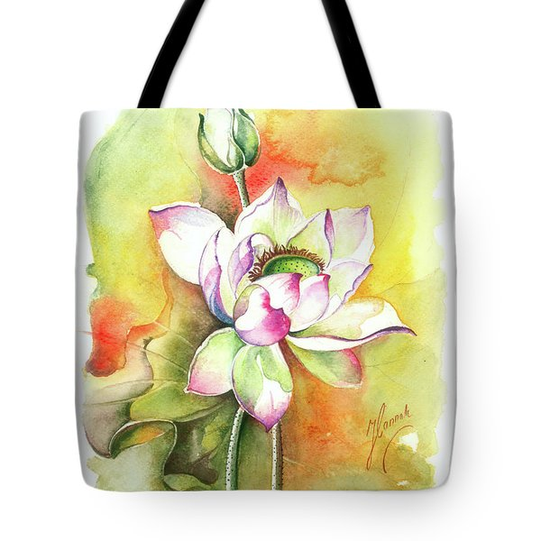 Tote Bag featuring the painting One Sunny Day by Anna Ewa Miarczynska