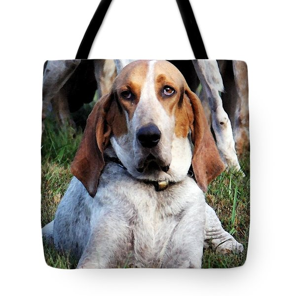 Tote Bag featuring the photograph One Tired Hound by Polly Peacock