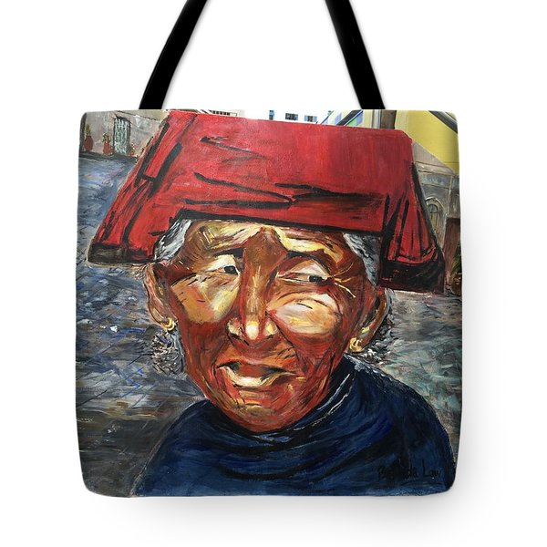 Tote Bag featuring the painting One Tough Lady II by Belinda Low