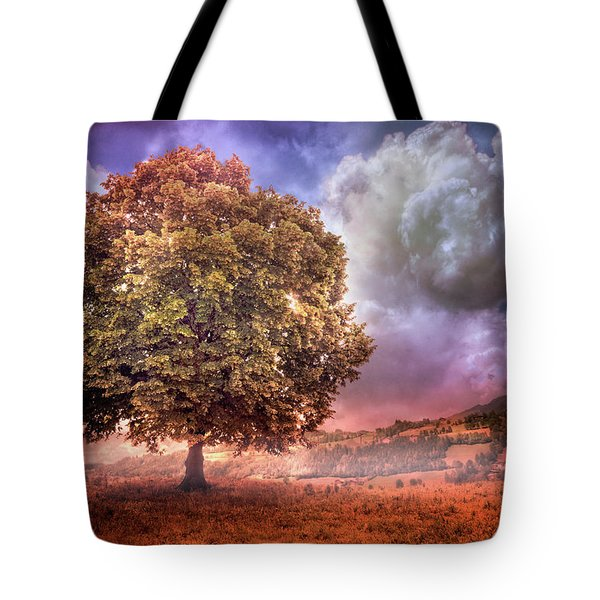 Tote Bag featuring the photograph One Tree In The Meadow by Debra and Dave Vanderlaan