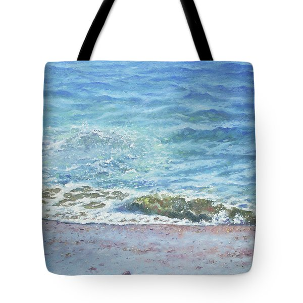 Tote Bag featuring the painting One Wave by Martin Davey
