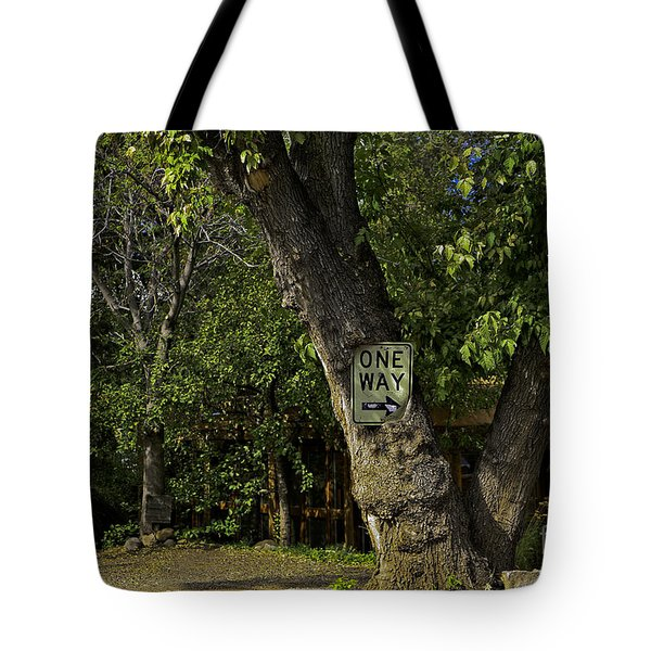 One Way Tote Bag by Madeline Ellis