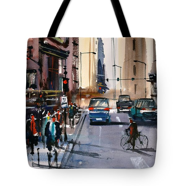 One Way Street - Chicago Tote Bag
