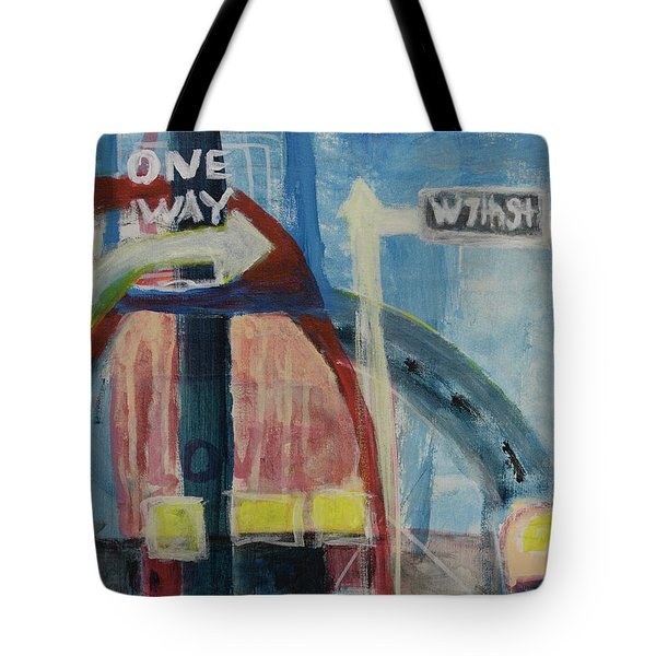 Tote Bag featuring the painting One Way To 7th Street by Susan Stone