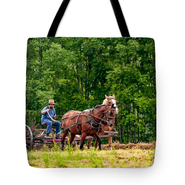 One With The Land Tote Bag by Steve Harrington
