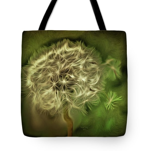 Tote Bag featuring the mixed media One Woman's Wish by Trish Tritz