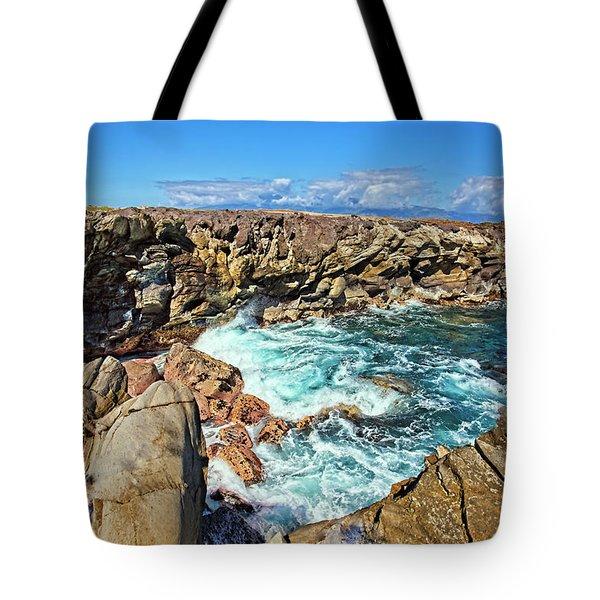 Oneloa-honokahua Bay Tote Bag by Marcia Colelli