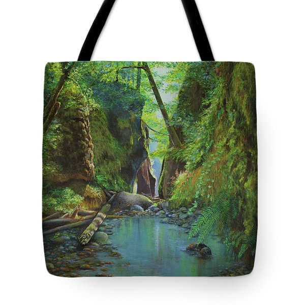 Oneonta Gorge Tote Bag by Jeanette French