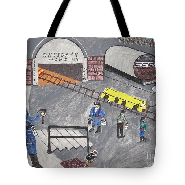 Tote Bag featuring the painting Onieda Coal Mine by Jeffrey Koss
