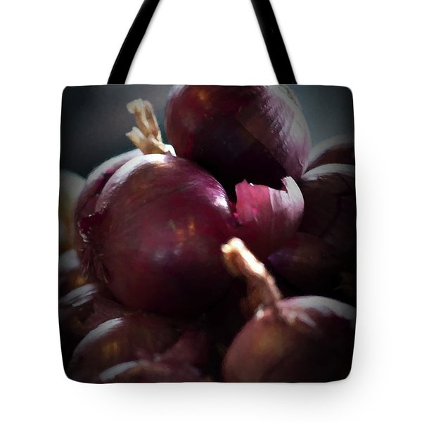 Tote Bag featuring the photograph Onions 1 by Travis Burgess