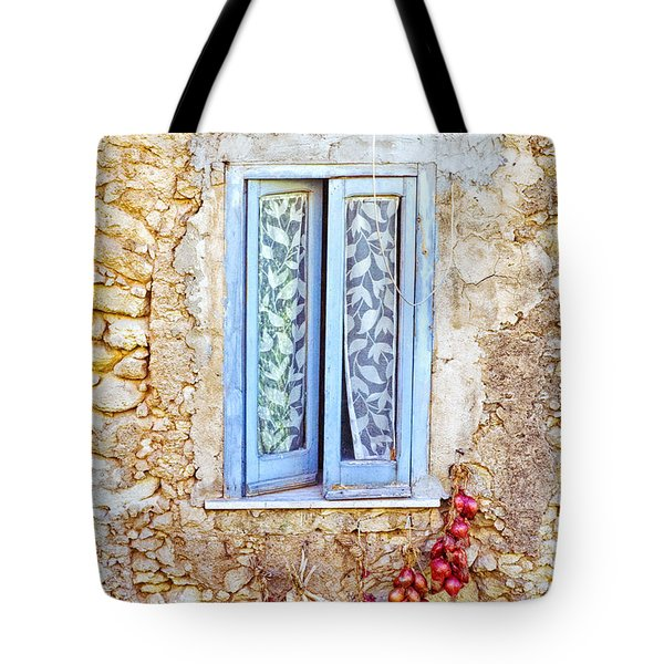 Onions And Garlic On Window Tote Bag