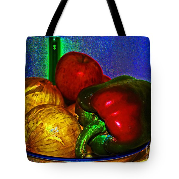 Onions Apples Pepper Tote Bag