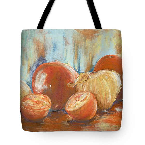 Onions And Tomatoes Tote Bag