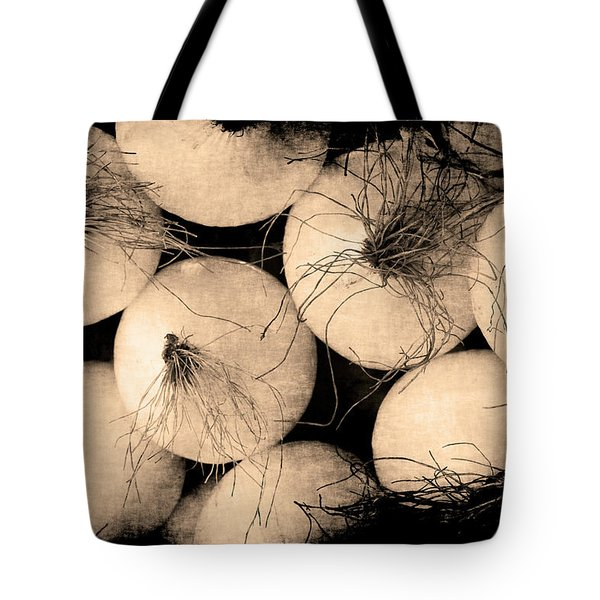 Tote Bag featuring the photograph Onions by Jennifer Wright