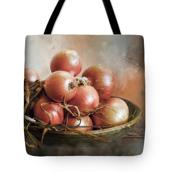 Tote Bag featuring the photograph Onions by Robin-Lee Vieira