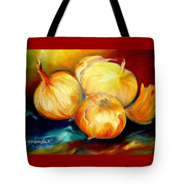 Onions Tote Bag by Yolanda Rodriguez
