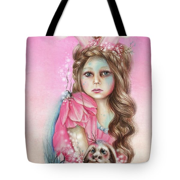 Only Friend In The World - Bunny Tote Bag by Sheena Pike