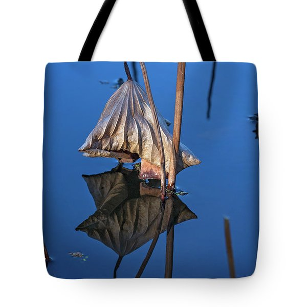 Tote Bag featuring the photograph Only In Still Water by Linda Lees