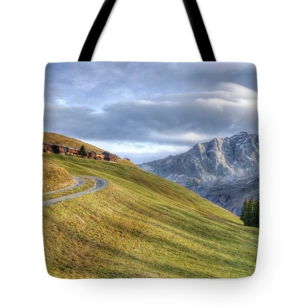 Only In The Swiss Alps Tote Bag