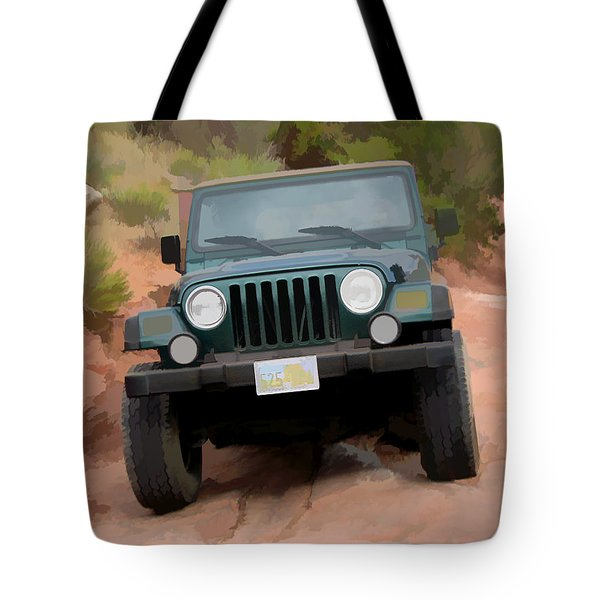 Only Jeeps Here Tote Bag by Gary Baird