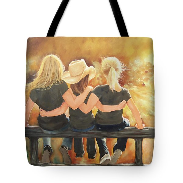 Only Sisters Know Tote Bag by Karen Kennedy Chatham