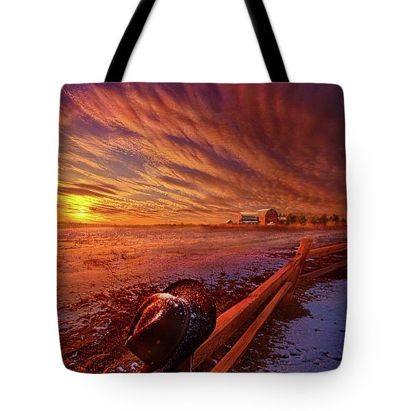 Tote Bag featuring the photograph Only This Moment In Between Before And After by Phil Koch