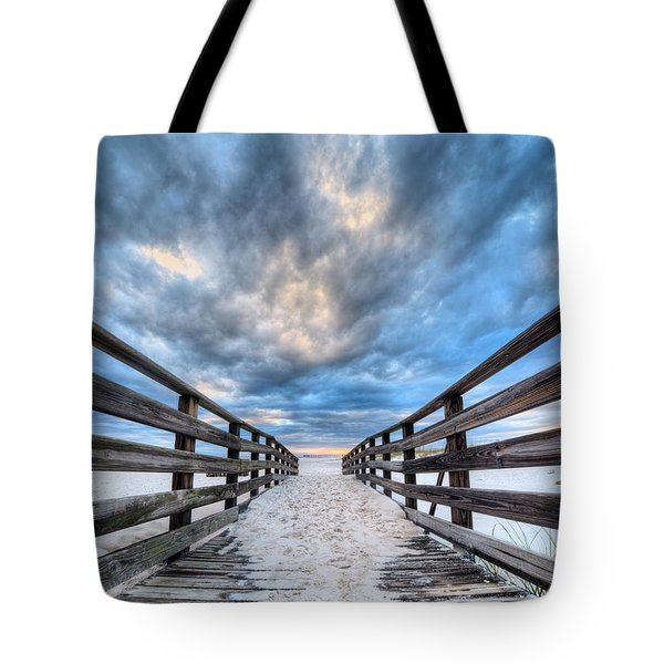 Tote Bag featuring the photograph Onto The Beaches Of Gulf Shores by JC Findley