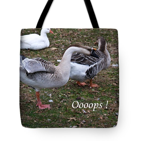 Oooops Tote Bag by Douglas Barnett