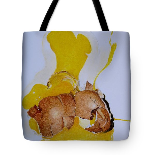 Oops Broken Egg Tote Bag