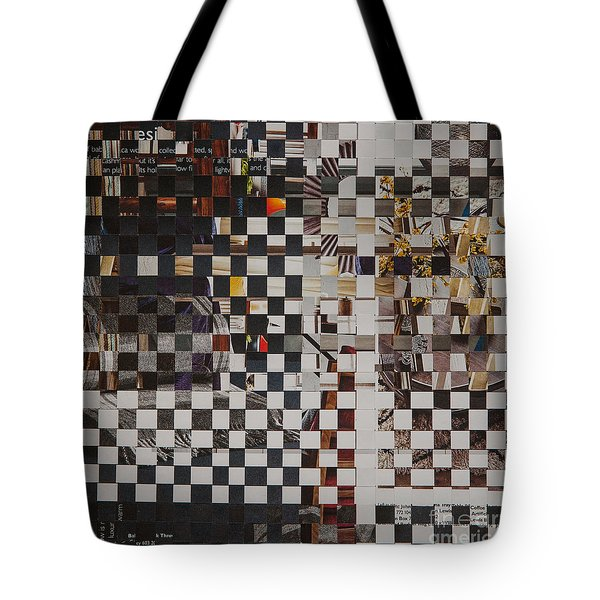Tote Bag featuring the mixed media Op Art 101 by Jan Bickerton