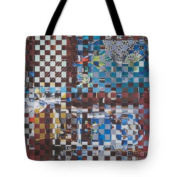 Tote Bag featuring the mixed media Op Art 102 by Jan Bickerton