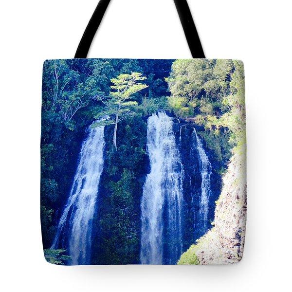 Opaeka'a Falls - Edit  Tote Bag by Alohi Fujimoto