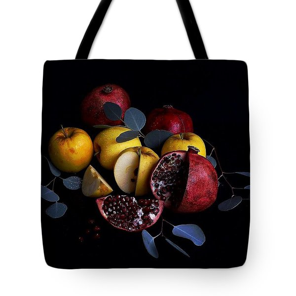 Opal Apples And Pomegranates Tote Bag