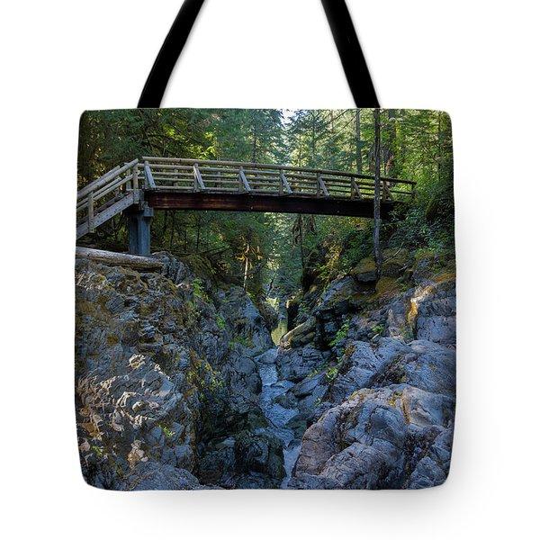 Opal Creek Bridge Tote Bag