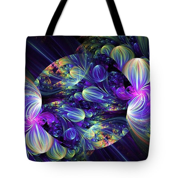 Tote Bag featuring the digital art Opal Essence by Lea Wiggins